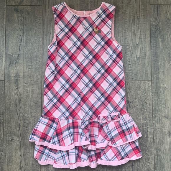 Gymboree Pink Plaid Sleeveless Dress Size 8